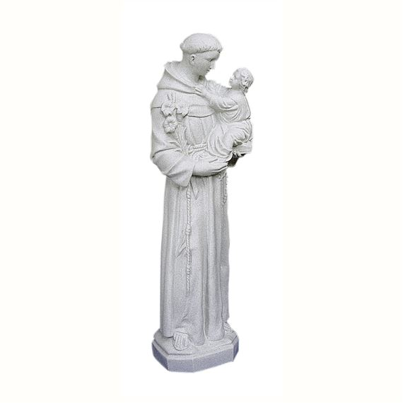 "ST. ANTHONY OUTDOOR STATUE - 24"" GRAY"