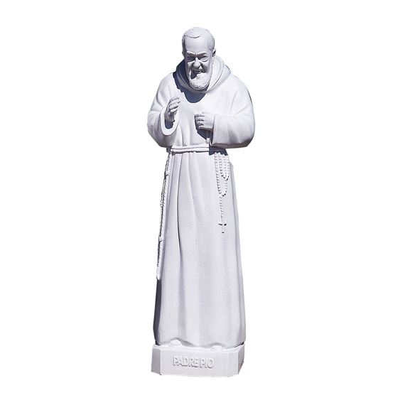 "ST. PIO OUTDOOR STATUE - 24"" GRAY"