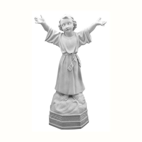 "DIVINO NINO OUTDOOR STATUE - 32"" GRAY"