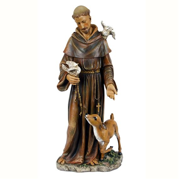ST. FRANCIS OF ASSISI 36-INCH PAINTED STATUE