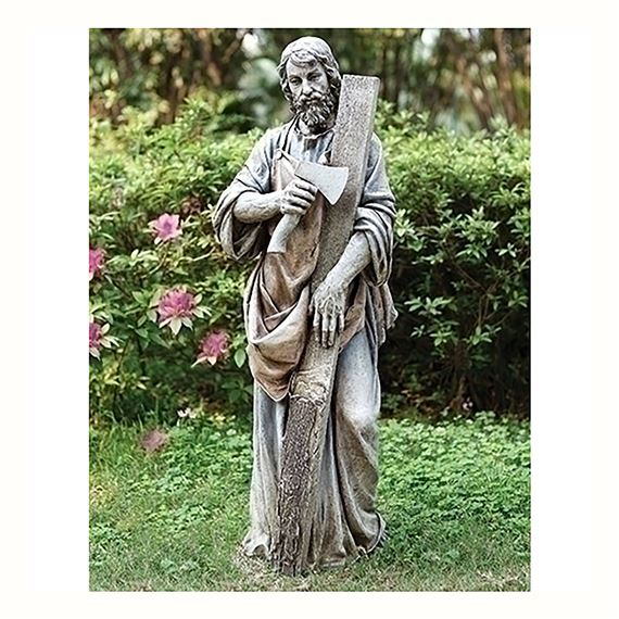 ST. JOSEPH THE WORKER GARDEN STATUE 36-INCH