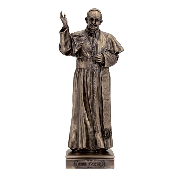POPE FRANCIS BRONZE STATUE