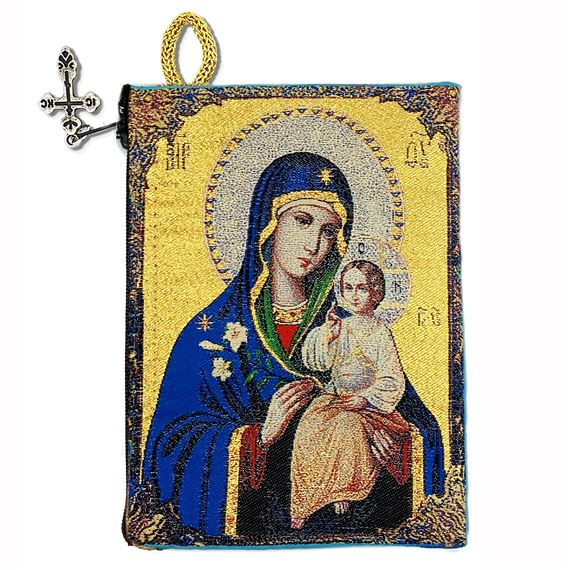MARY THE ETERNAL BLOOM - ICON ROSARY POUCH
