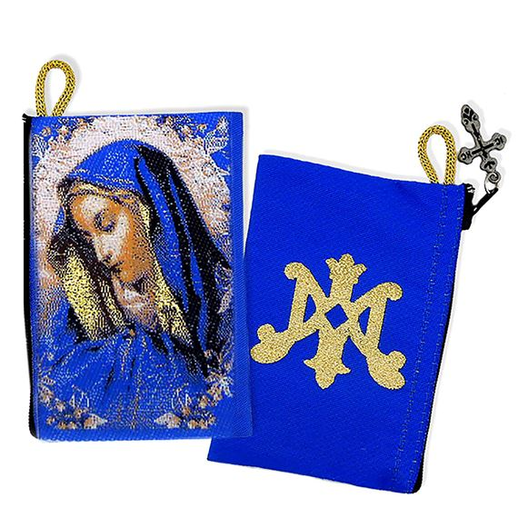 "OUR LADY OF SORROWS TAPESTRY ROSARY POUCH 3"" x 5"""