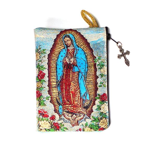 O.L. GUADALUPE TAPESTRY - ROSARY POUCH