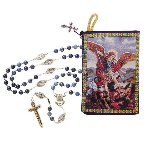 EWTN WARRIOR'S ROSARY & ST. MICHAEL ROSARY POUCH
