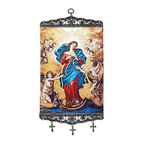 OUR LADY UNDOER OF KNOTS - TAPESTRY BANNER