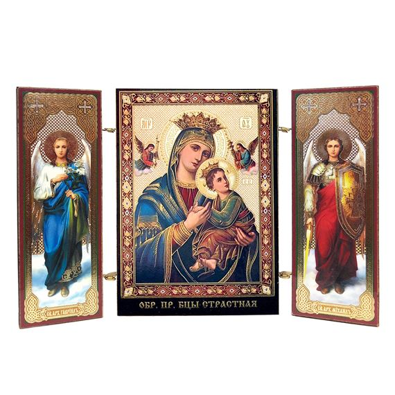 OUR LADY OF PERPETUAL HELP MINIATURE TRIPTYCH