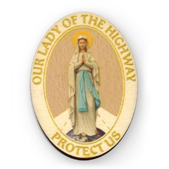 OUR LADY OF THE HIGHWAY VISOR CLIP