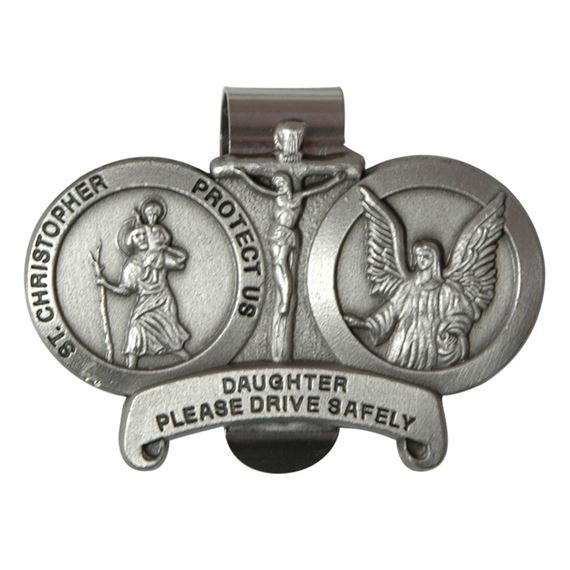 ST. CHRISTOPHER VISOR CLIP - DAUGHTER
