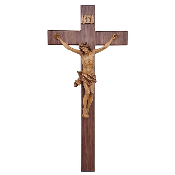 WALNUT 20-INCH WALL CRUCIFIX