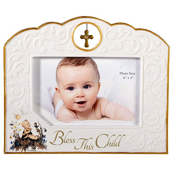 BLESS THIS CHILD PICTURE FRAME