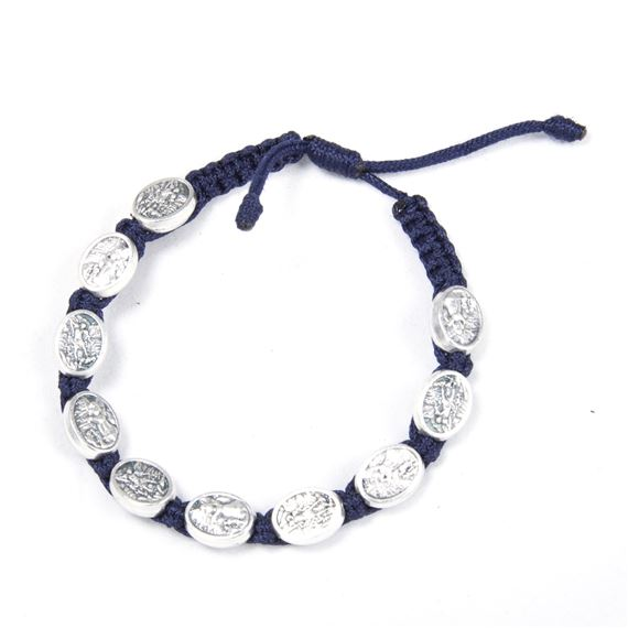 ST. MICHAEL CORDED BRACELET - NAVY BLUE