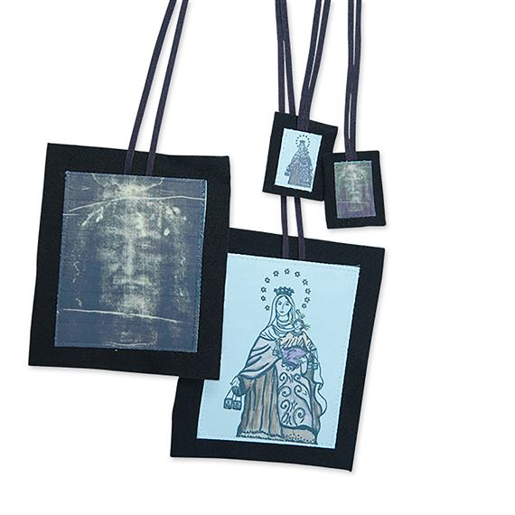 HOLY FACE BROWN SCAPULAR SET