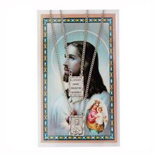 SCAPULAR PENDANT AND PRAYER CARD