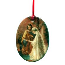 MARRIAGE OF JOSEPH AND MARY PORCELAIN ORNAMENT