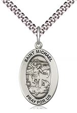 Sterling Silver St Michael the Archangel Pendant with chain
