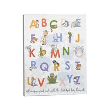 ALL CREATURES GREAT AND SMALL ALPHABET PLAQUE