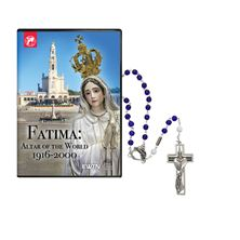 FATIMA: ALTAR OF THE WORLD DVD and ROSARY SET