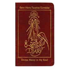 DIARY OF ST. FAUSTINA - BURGUNDY LEATHER EDITION
