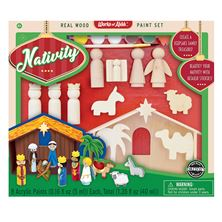 NATIVITY WOOD PAINT SET