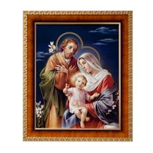 HOLY FAMILY IN  CHERRY FRAME