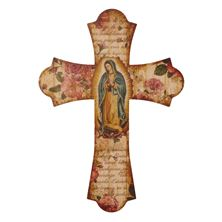 OUR LADY OF GUADALUPE CROSS PLAQUE