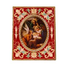 RED ENAMELED NATIVITY DESK FRAME