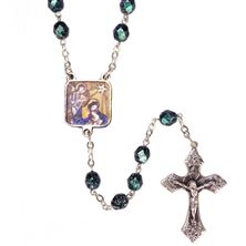 MARBLED TURQUOISE NATIVITY ROSARY