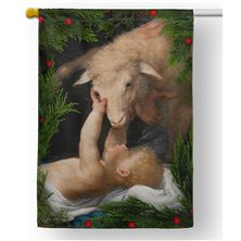 BEHOLD THE LAMB OF GOD OUTDOOR HOUSE FLAG
