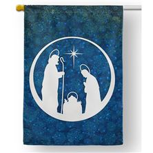 VINTAGE NATIVITY OUTDOOR HOUSE FLAG
