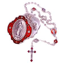 OUR LADY OF GUADALUPE ROSARY AND BOX SET