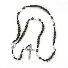 OUR LADY OF FATIMA WOOD BEAD WEARABLE ROSARY
