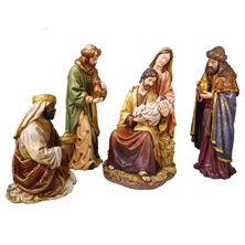 FOUR PIECE 16-INCH NATIVITY SET