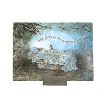 SCENIC CHRISTMAS PLAQUE - SING GLORY
