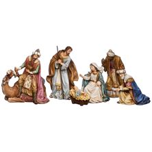 SIX PIECE NATIVITY WITH CAMEL (8-INCH)