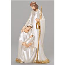 IVORY AND GOLD HOLY FAMILY FIGURE 15-INCH