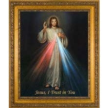DIVINE MERCY - FRAMED CANVAS