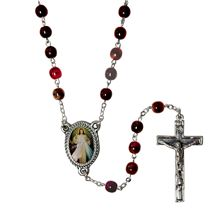 DIVINE MERCY ROSARY WITH PICTURE MEDAL