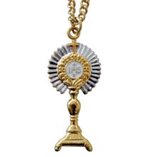 TWO-TONE MONSTRANCE PENDANT