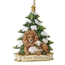 LION and LAMB PEACE ON EARTH ORNAMENT