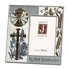 MY FIRST COMMUNION - SILVER and GOLD PICTURE FRAME