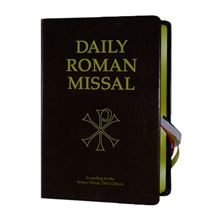 THE NEW DAILY ROMAN MISSAL - BLACK GENUINE LEATHER