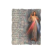 "DIVINE MERCY VINTAGE WOOD PLAQUE - 4¼"" x 5¼"""