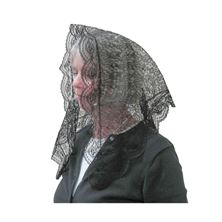 LACE MANTILLA - BLACK