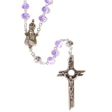 FATIMA ROSARY WITH COLOR CHANGING CRYSTAL BEADS