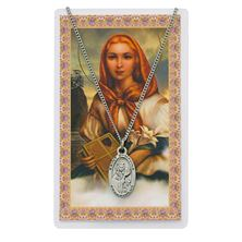 ST. DYMPHNA PENDANT and PRAYER CARD SET