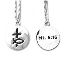 "GUYS' DISCIPLE OF CHRIST NECKLACE 3/4"" CHARM"