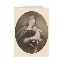 MARY REGINA WITH CHILD CHRISTMAS CARDS (PACK OF 6)