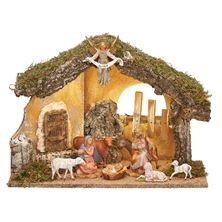 FONTANINI 9-PIECE NATIVITY WITH STABLE
